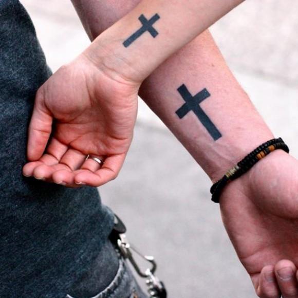Тату кресты для парней