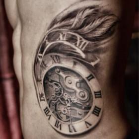Тату мужские фото часы