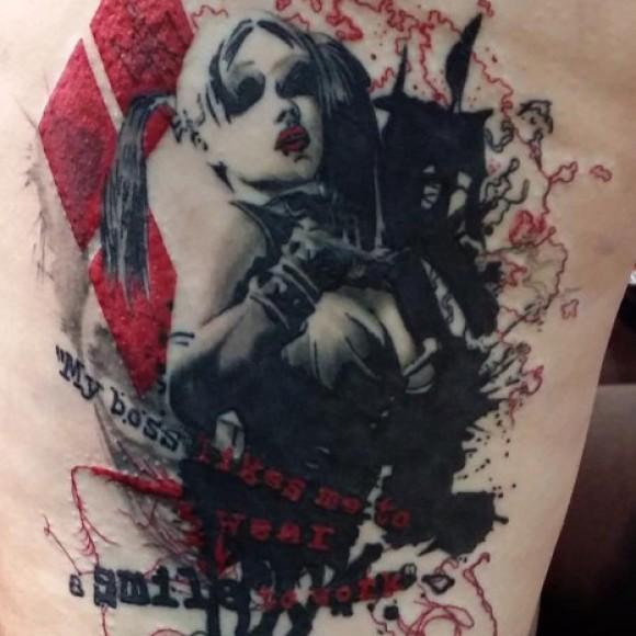 картинки татуировки харли квинн