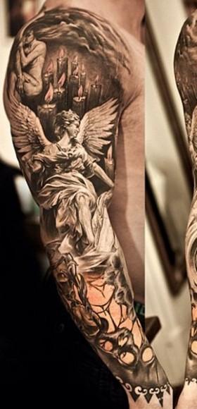 Фото татуировок ангелов мужские