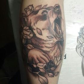 Татуировка медведь: 50 фото. Значение, символика, эскизы