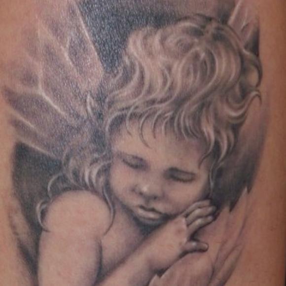 тату ангел картинки