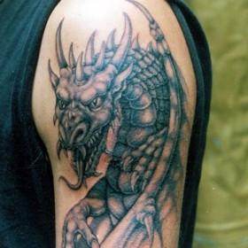 тату фото дракон на плече