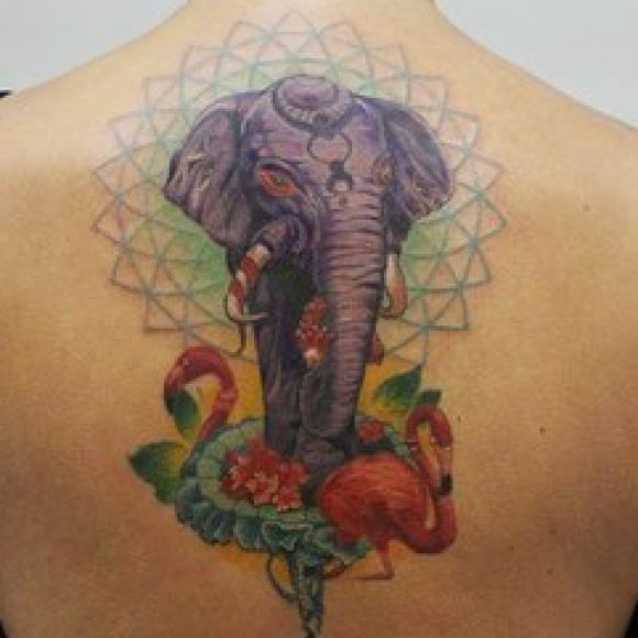 мужские тату слона