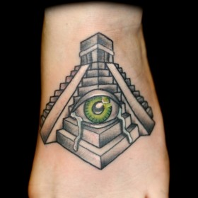 Тату пирамиды с глазом фото