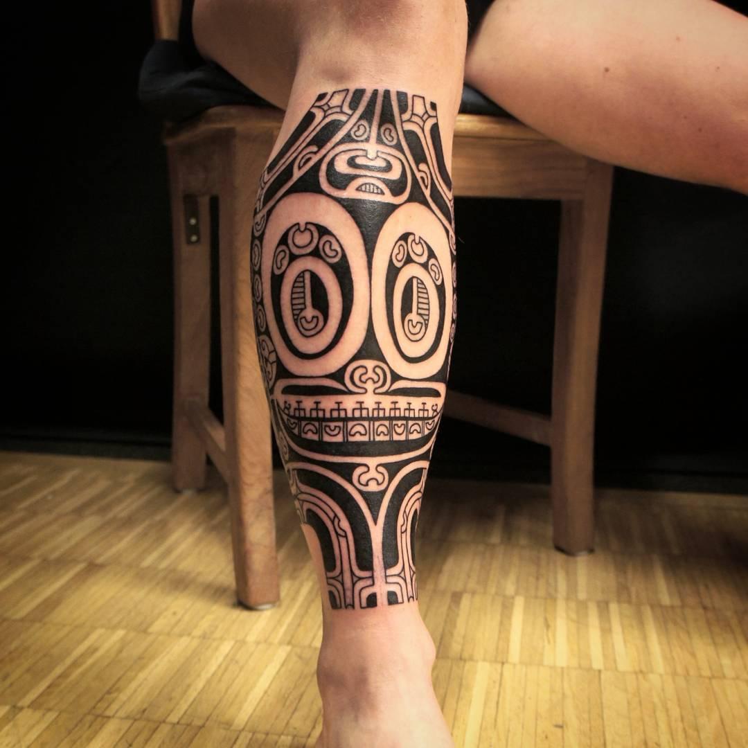 Полинезийском стиле тату фото