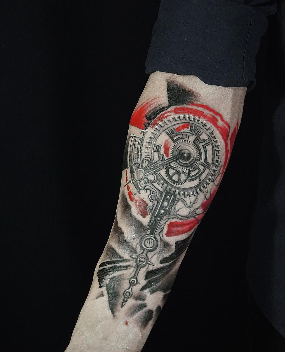 Тату в стиле Трэш полька, значение, фото, татуировки трэш