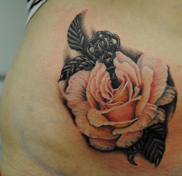 Тату на животе для девушек фото розы