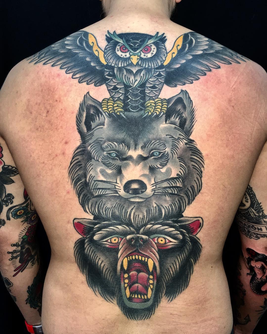Тату волк: 12 значений, 78 фото и 20 лучших эскизов - Vse-o-tattoo 41