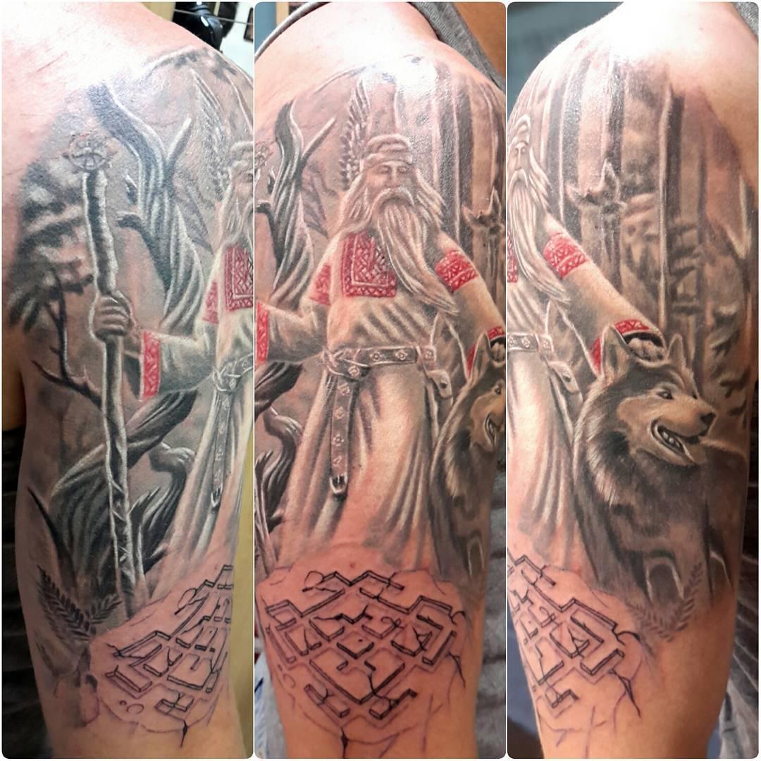 Тату славянской тематики символы, эскизы, обереги, узоры в славянском