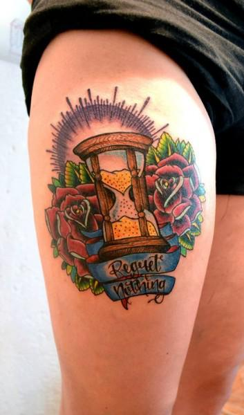 Cracked hourglass tattoo rxgame for Best soap to wash tattoo