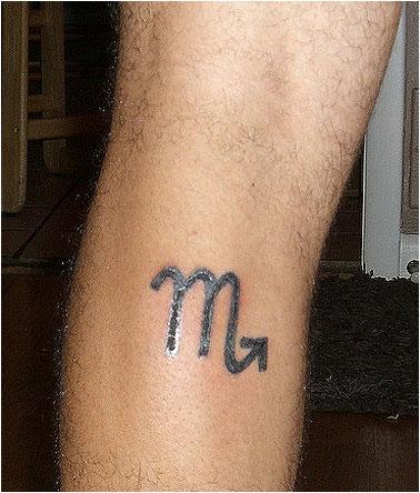скорпион знак зодиака тату фото