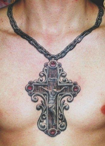 Тату крест на руке. Его значение