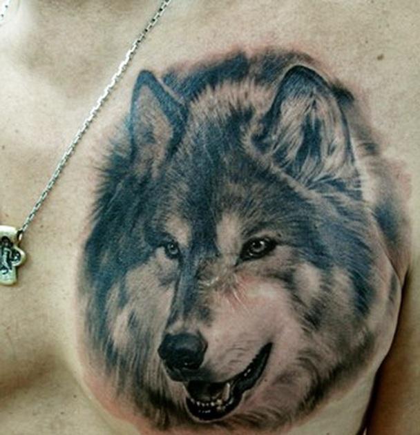 Тату фото мужское с волками
