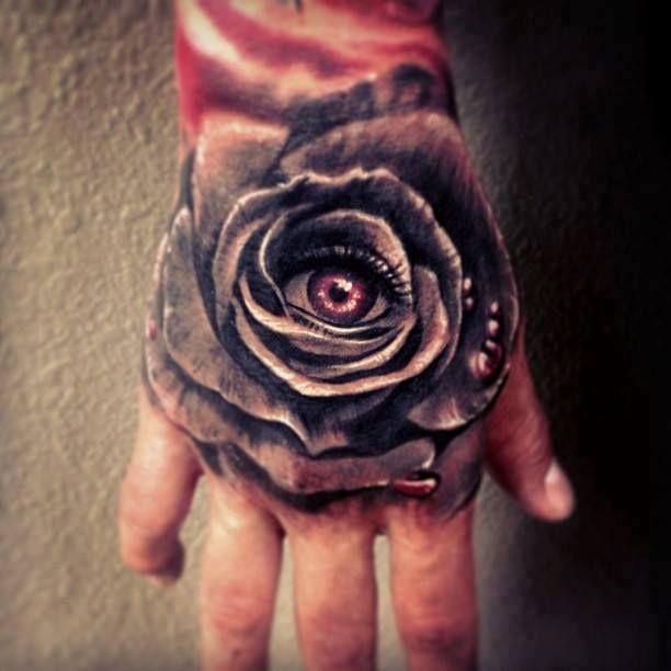 Тату на кисти руки роза
