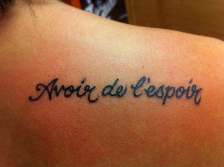 Тату на французском языке