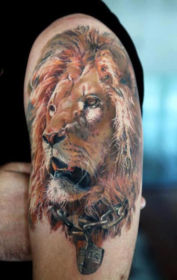 Фото татуировок на плече львы 33