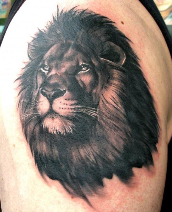 Фото татуировок на плече львы 8