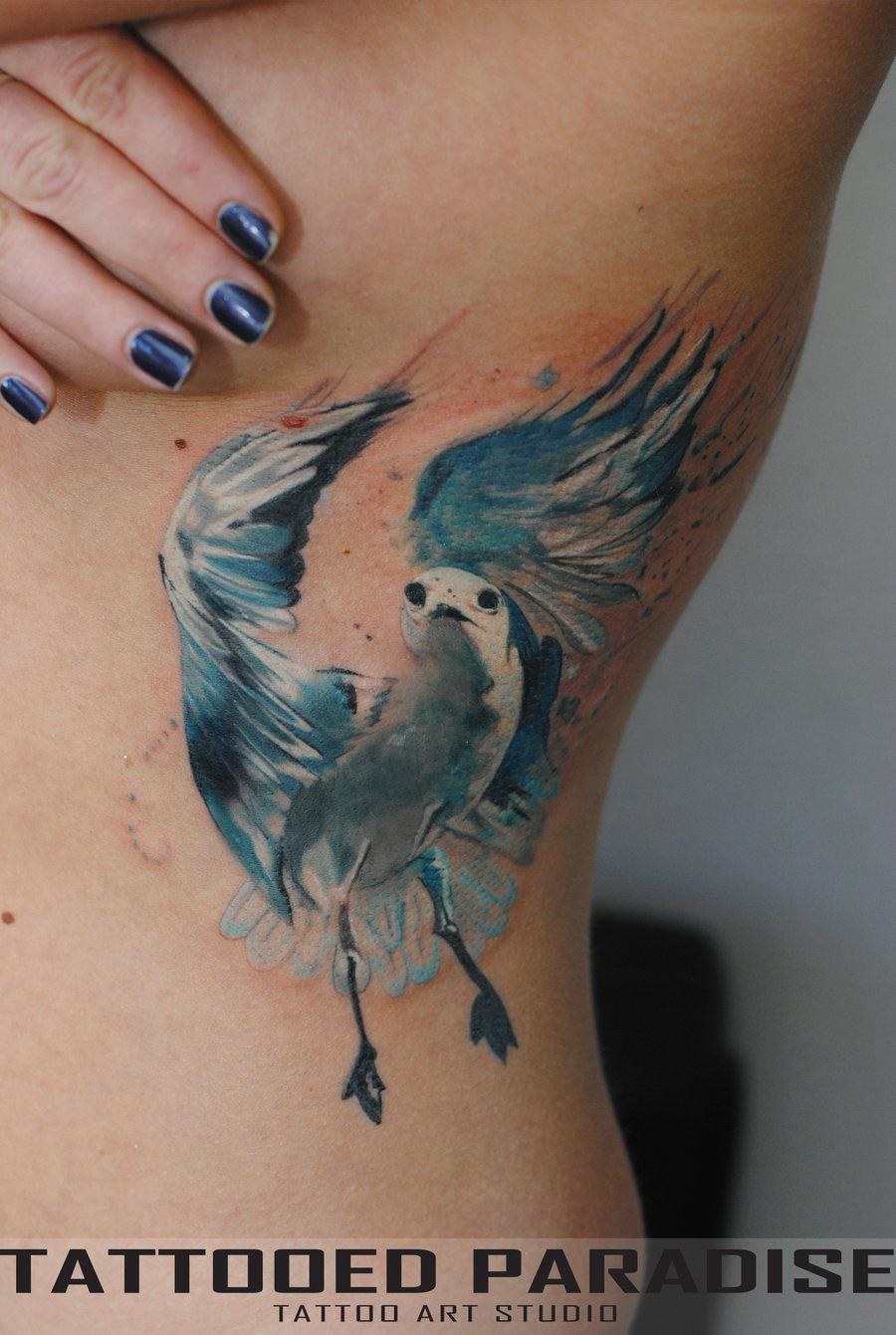 Татуировка с птицами фото