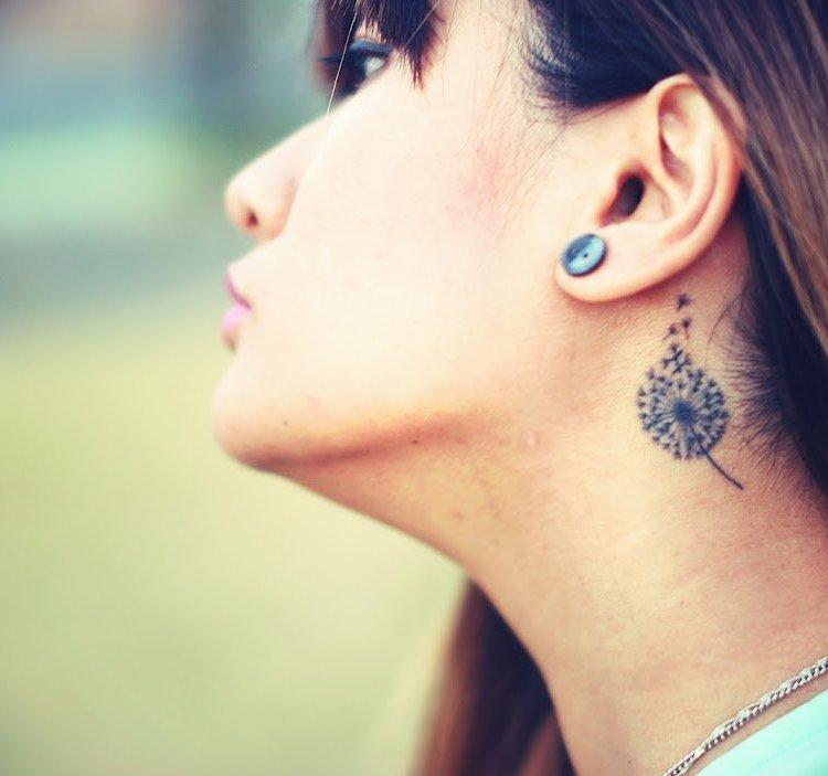 татуировка одуванчик