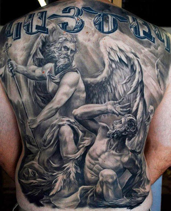 ангел и демон рисунки для тату