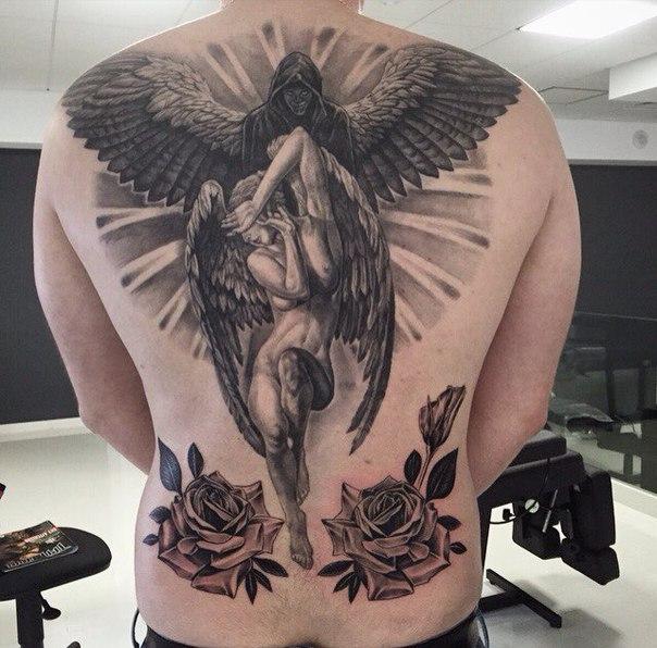 рисунки ангелов татуировок