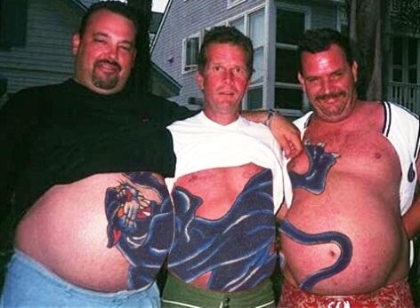 Татуировки на животе мужские - фотографии 96