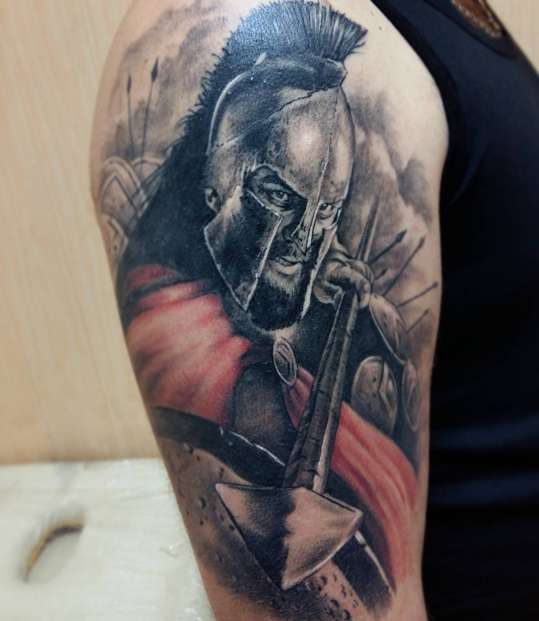 Фото тату войнов на плече