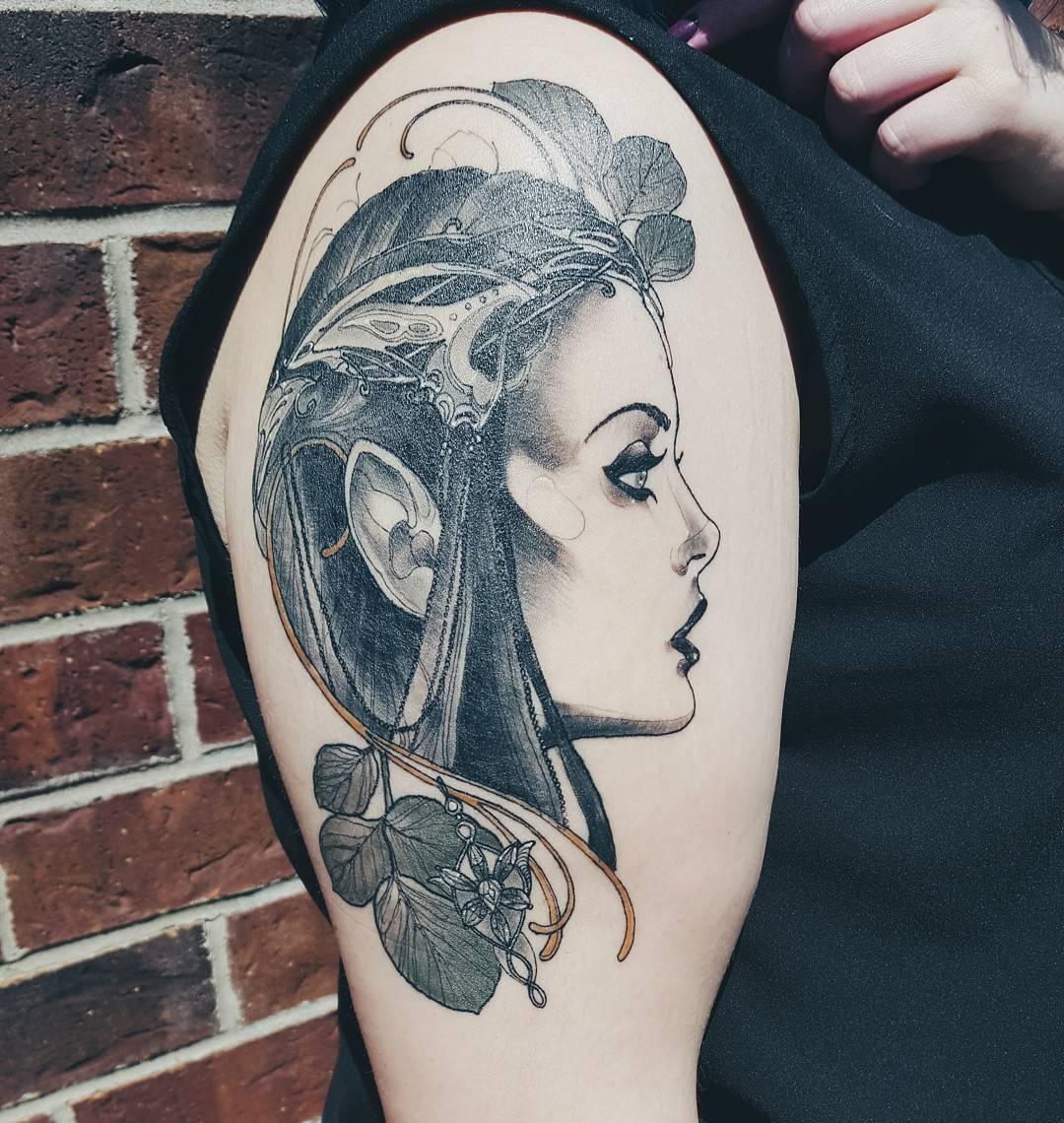 Эльфы тату на девушках фото