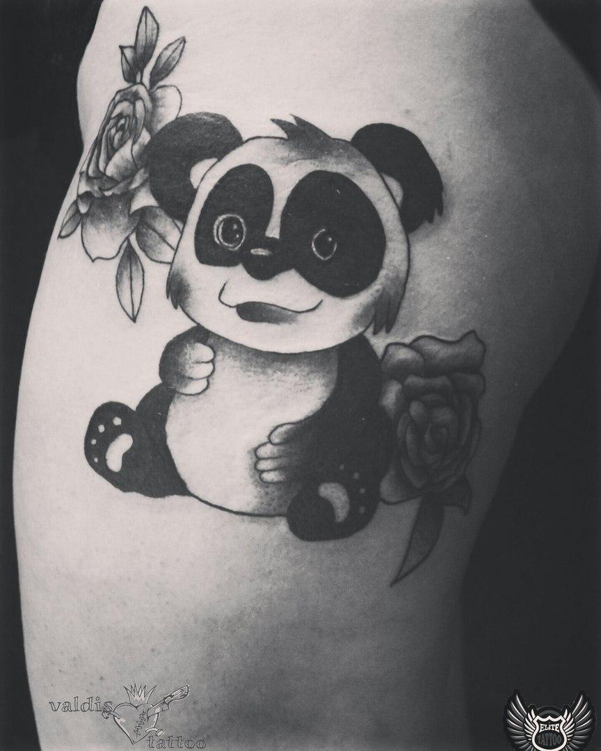 Маленькие тату панды фото