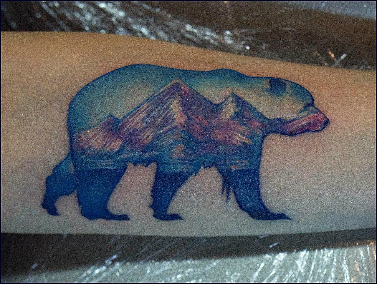 Фото татуировок белого медведя