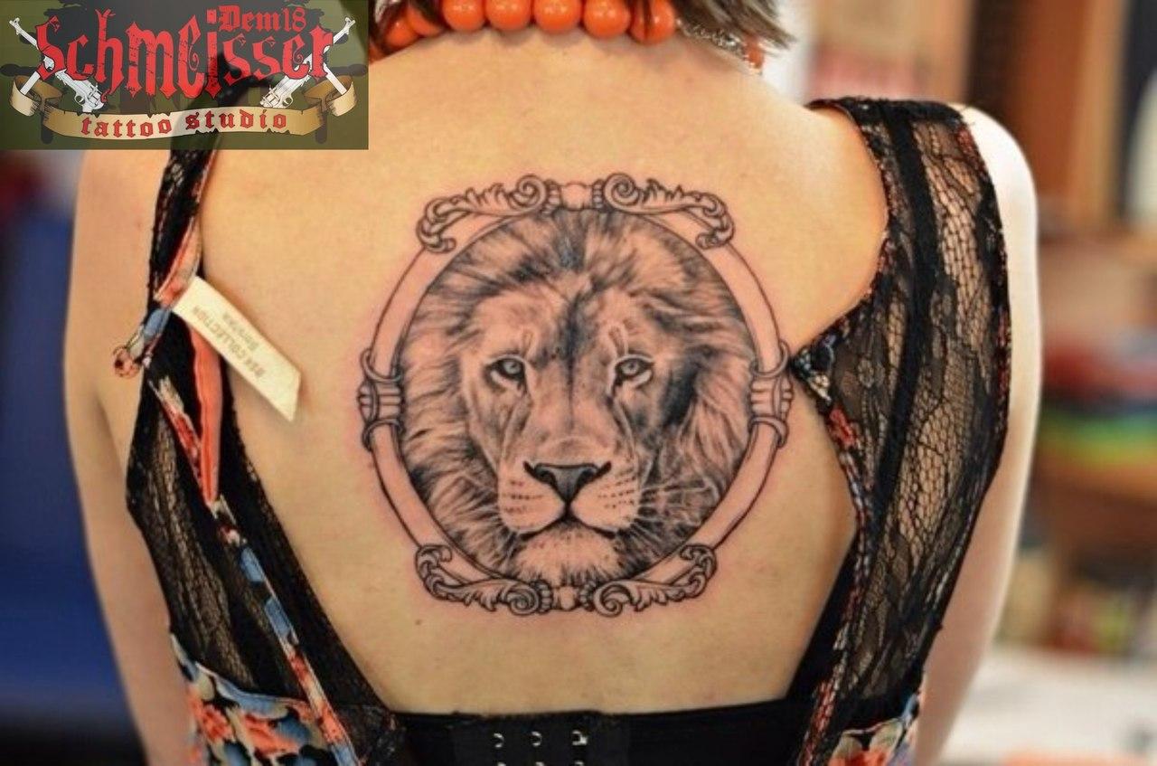 Татуировки на теле фото львов