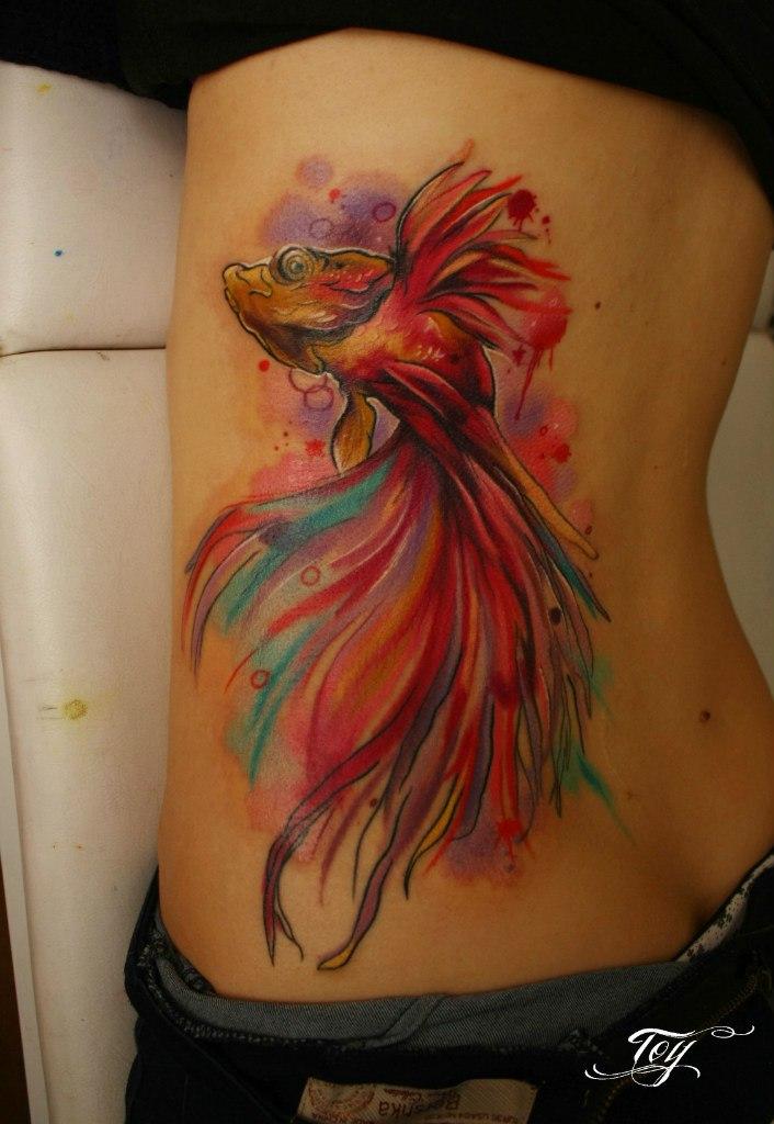 Татуировка в виде рыб фото