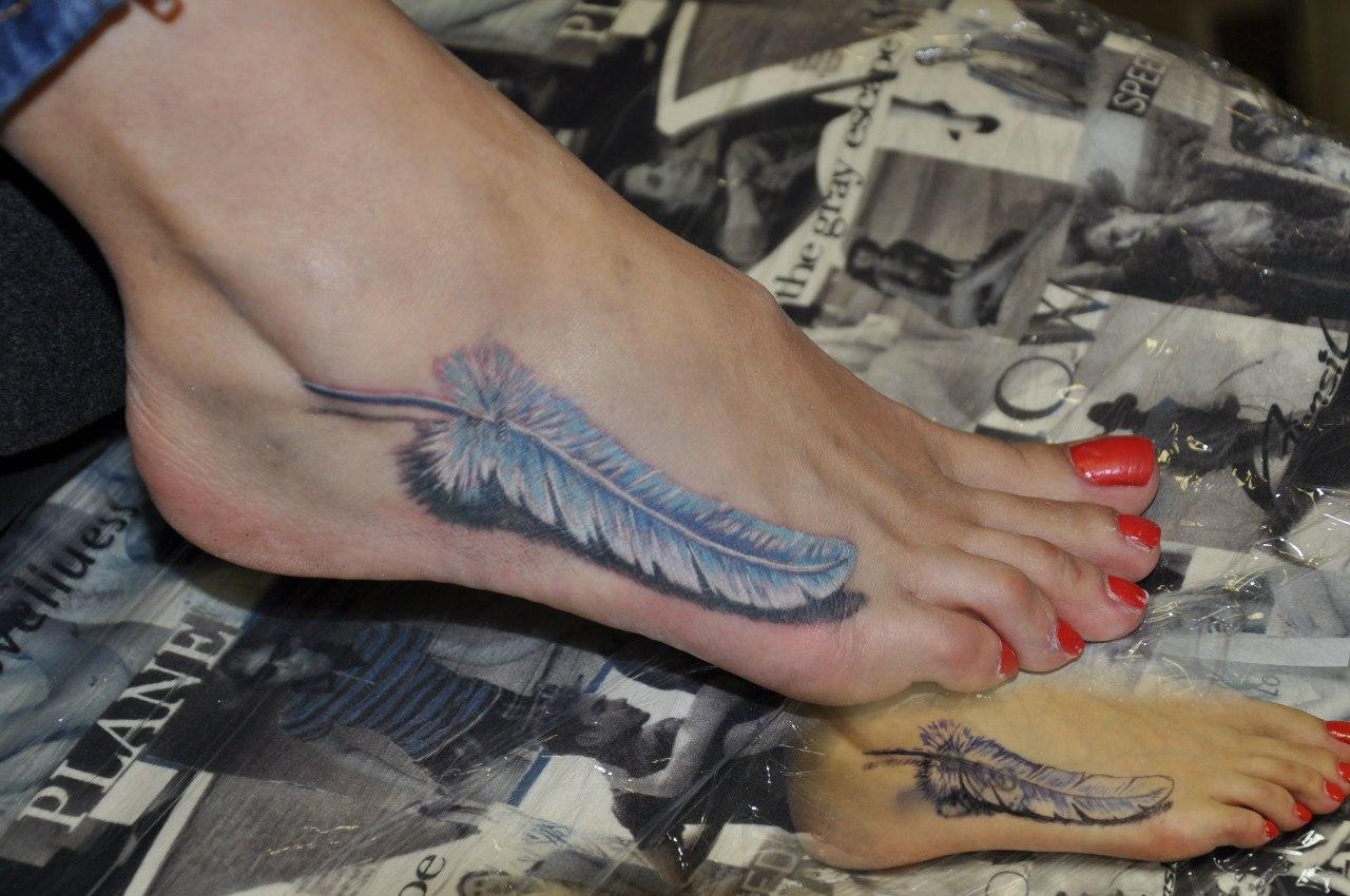 Татуировки на ступне, фото тату на стопе 29