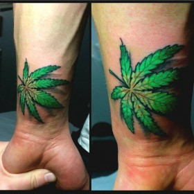 Тату конопли в картинках марихуана в пакетах фото