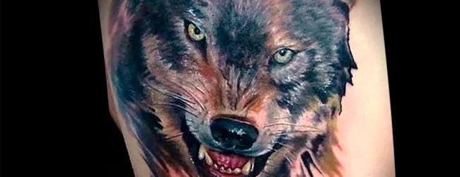 Татуировка с волком: толкование и популярные техники нанесения