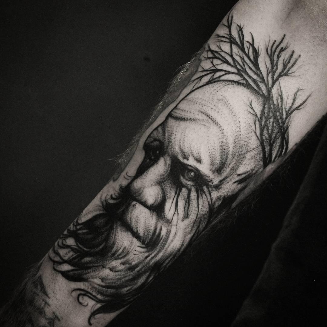 Татуировка лицо девушки, фото тату | 1080x1080