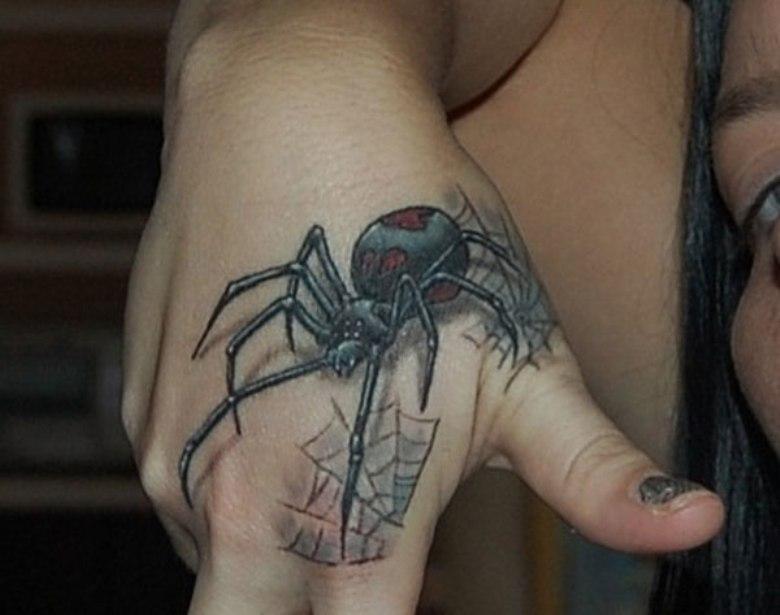 можете паук на запястье тату фото ними размещается