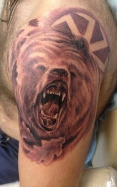тату медведь коловрат картинки мой