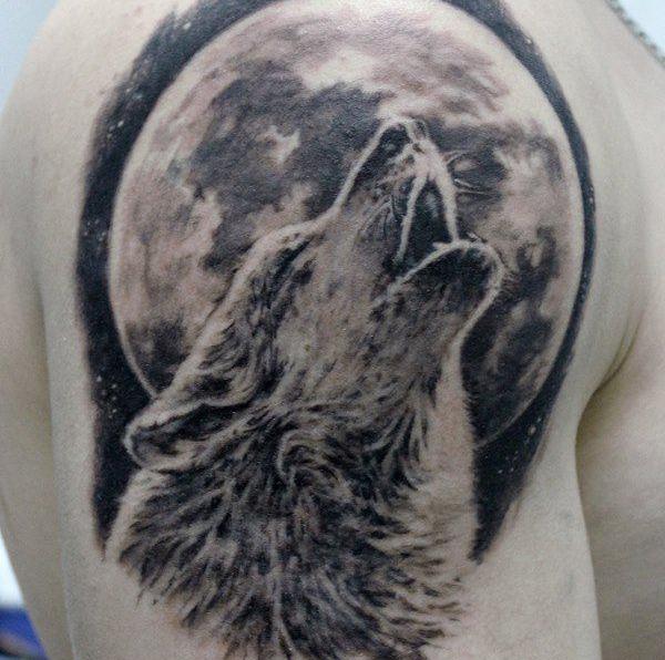 тату фото картинки волка воющего на луну было продолжения, мало