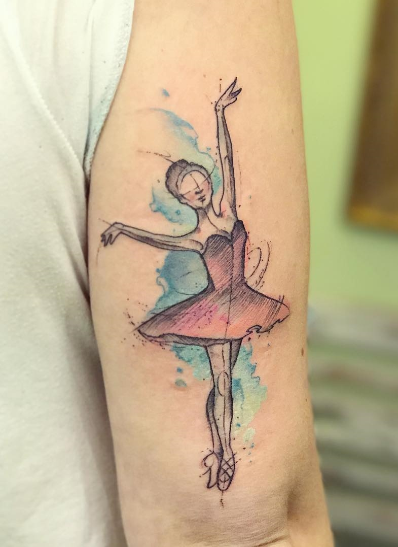 картинки тату балерин обычно проводят для
